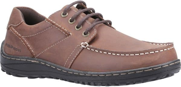 Hush Puppies Theo Lace Mens Shoes Brown